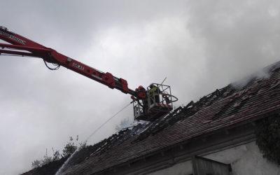 Pożar budynku gospodarczego – ul. Abramowicza
