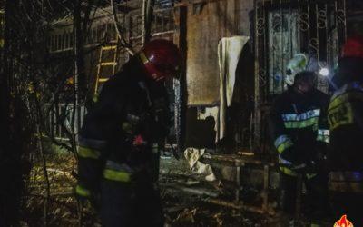 Pożar drewnianego budynku – Chotomów