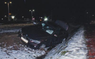 Pojazd wypadł z drogi – ul. Piaskowa
