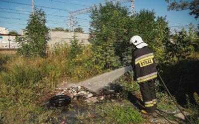 Pożar śmieci – ul. Kościuszki