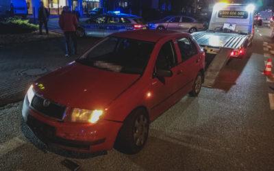 Zderzenie samochodów osobowych – ul. Jagiellońska