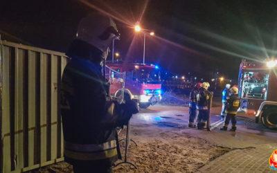 Pożar drzwi do mieszkania – ul. Polskiej Organizacji Wojskowej