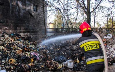 Pożar tworzyw sztucznych – ul. Kościuszki