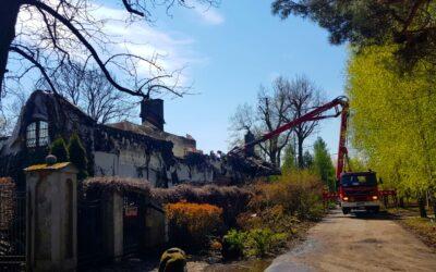 Pożar budynku mieszkalnego – Wólka Radzymińska